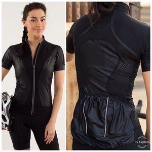Lululemon paceline black Jersey top short sleeve 4